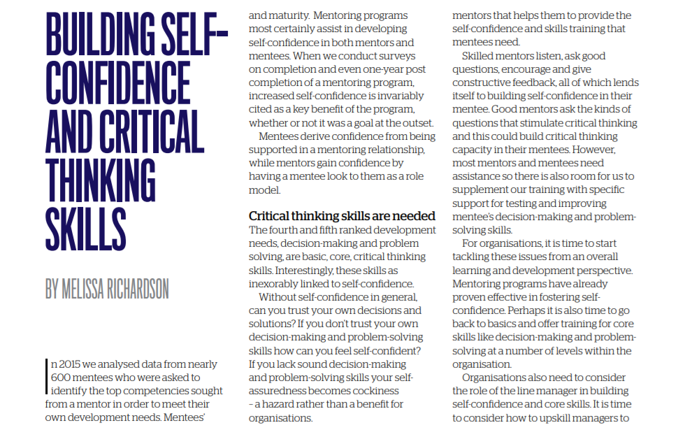 Screenshot of AITD Magazine article from 2016